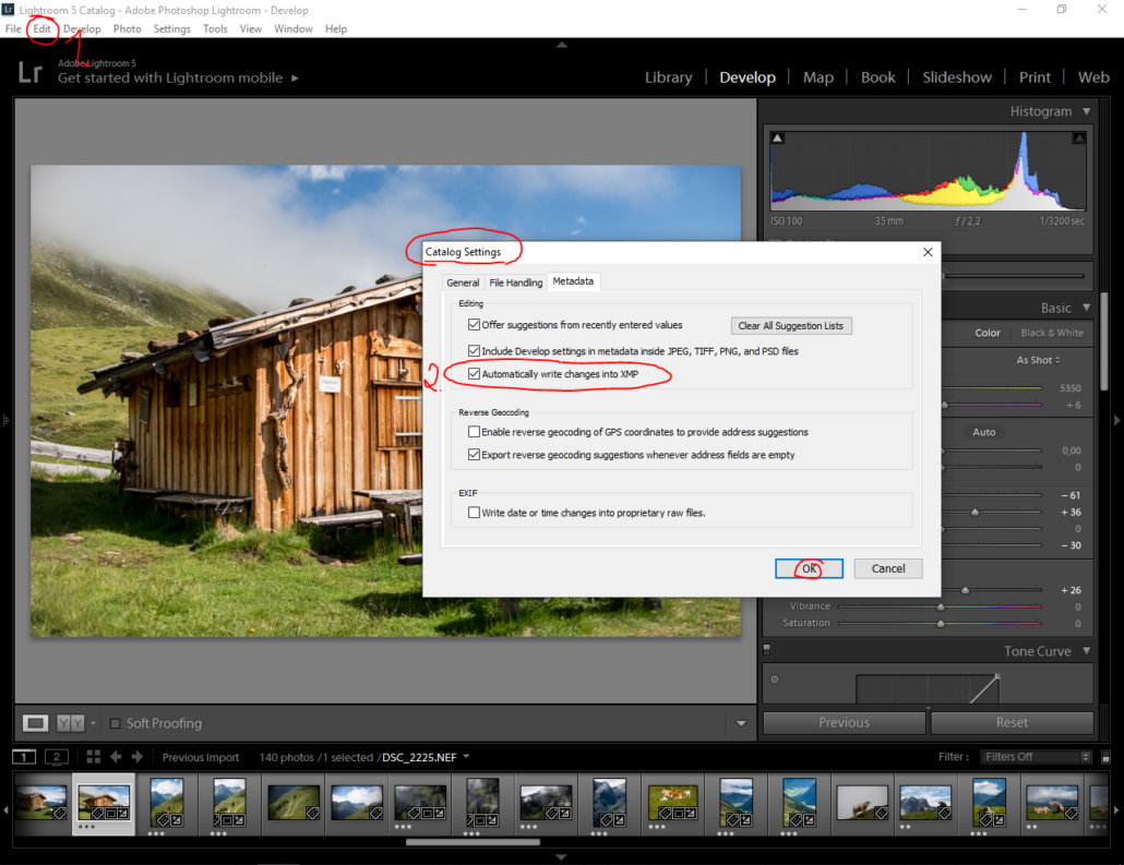 How to Save XMP files in Lightroom – Why you need this