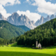 church dolomites, sankt magdalena photo spot, photo spot puez geisler