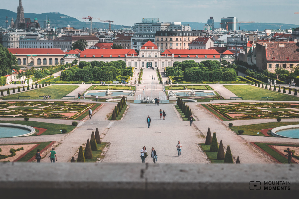 Schönbrunn Palace with view over Vienna, Photo: Daniel P.