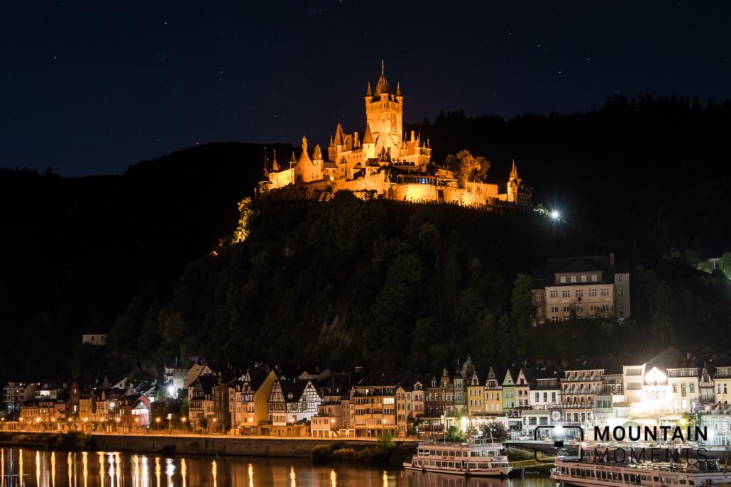 Castle Cochem at night