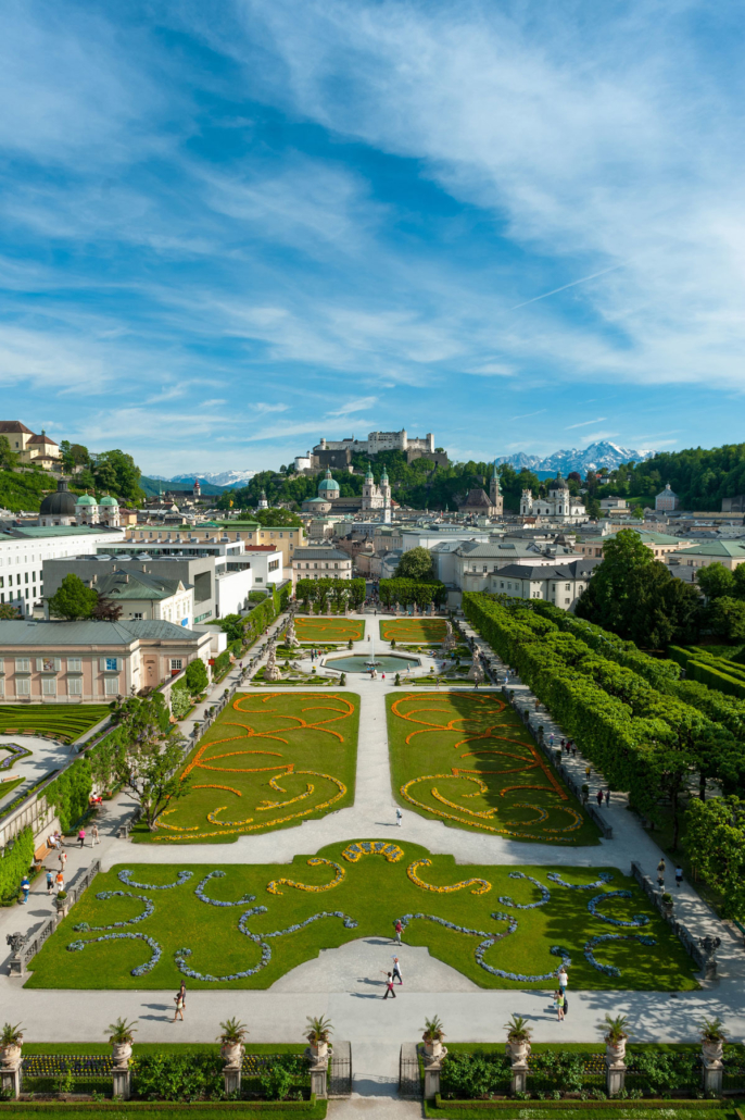 Sights Salzburg, view over the Mirabell Garden to the old town of Salzburg, Photo: Tourism Salzburg, G. Breitegger